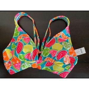 Multicolor Bikini Top